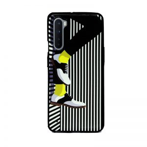 OnePlus Nord Black Stripe Shoes soft printed Case