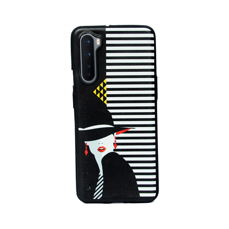 OnePlus Nord Black Hat Girl Soft Printed Case