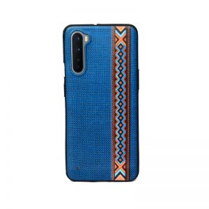 Oneplus Nord Blue Embroidery Soft Printed Case