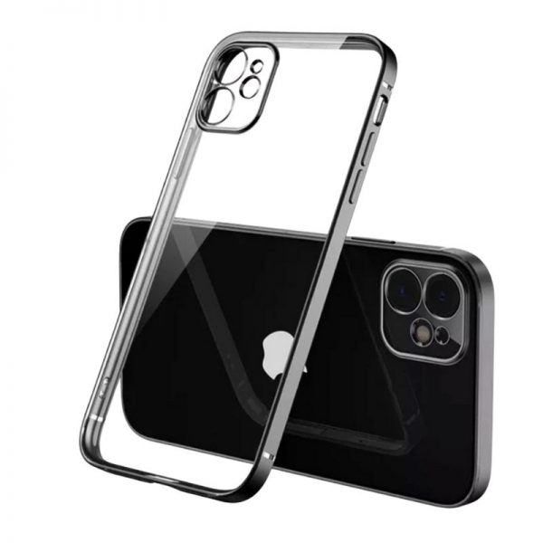 iPhone 11 Square Border Case (Black)