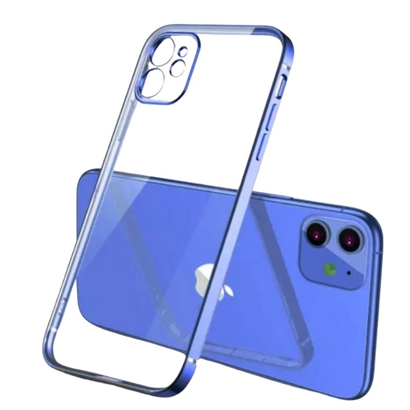iPhone 11 Square Border Case (Blue)