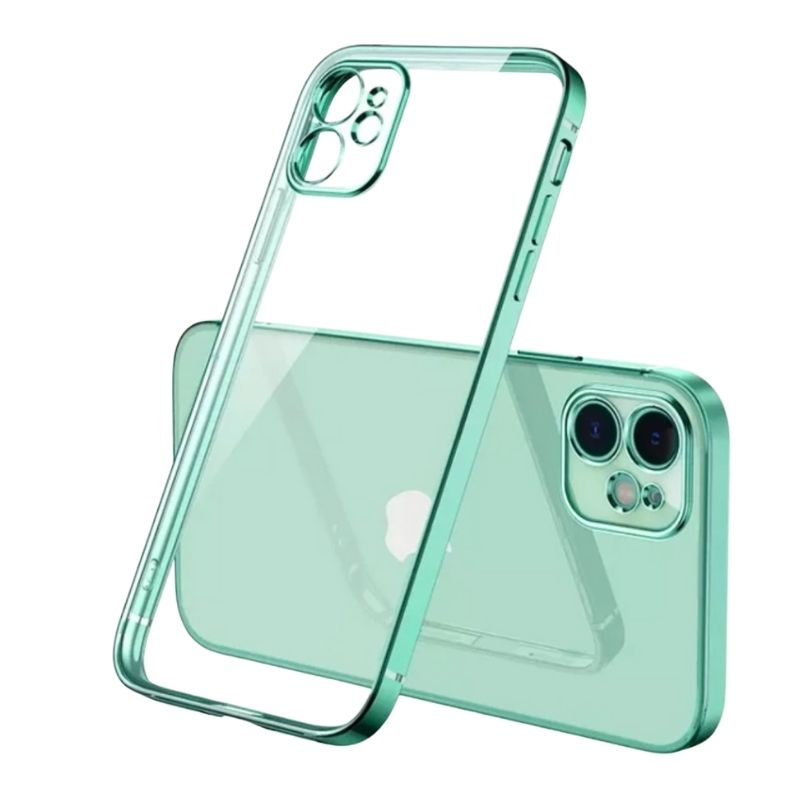 iPhone 11 Square Border Case (Green) -1