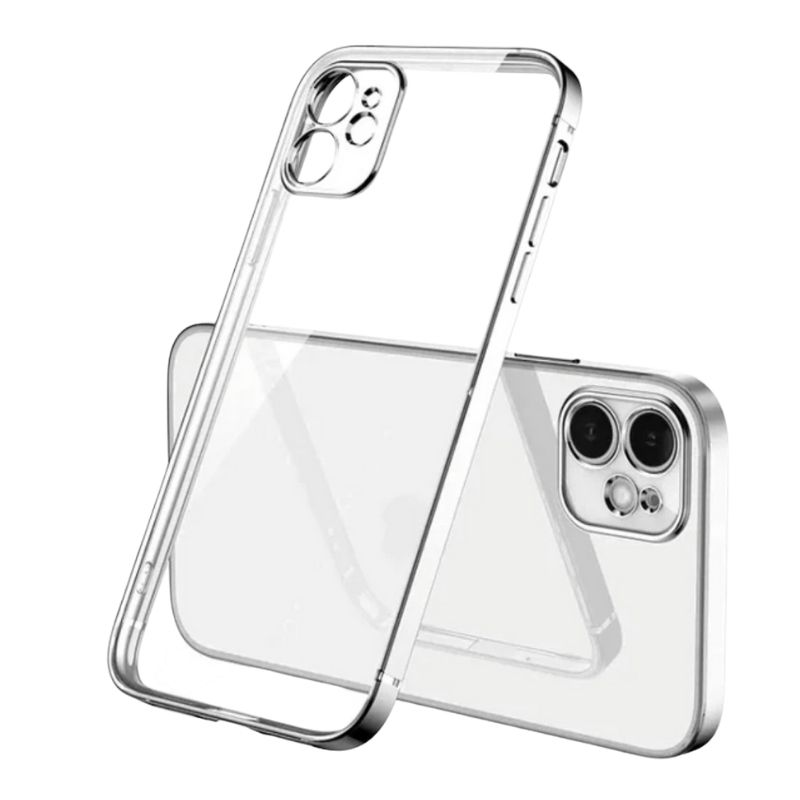 iPhone 11 Square Border Case (Silver)